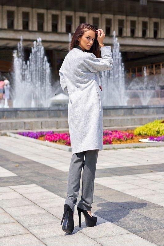 Облегченное пальто Джесси серый