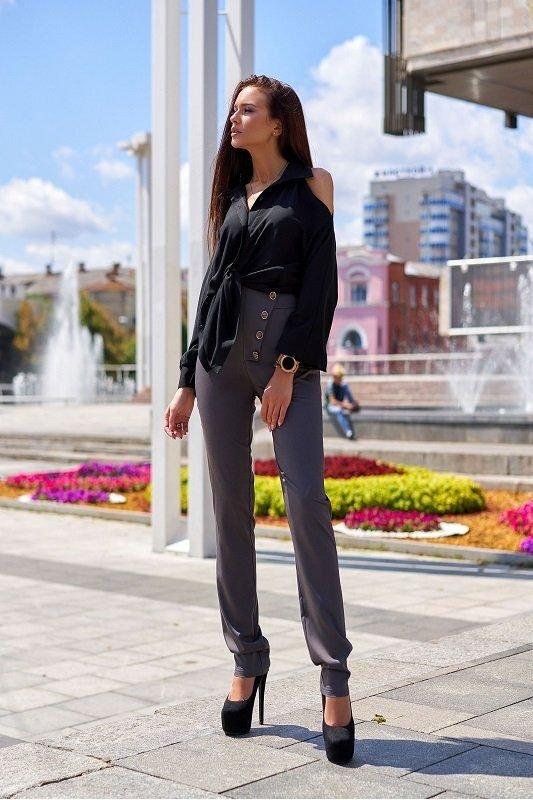 Классические брюки Дора серый