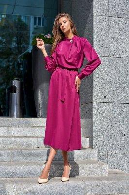 Прекрасное платье-миди Сандра марсала