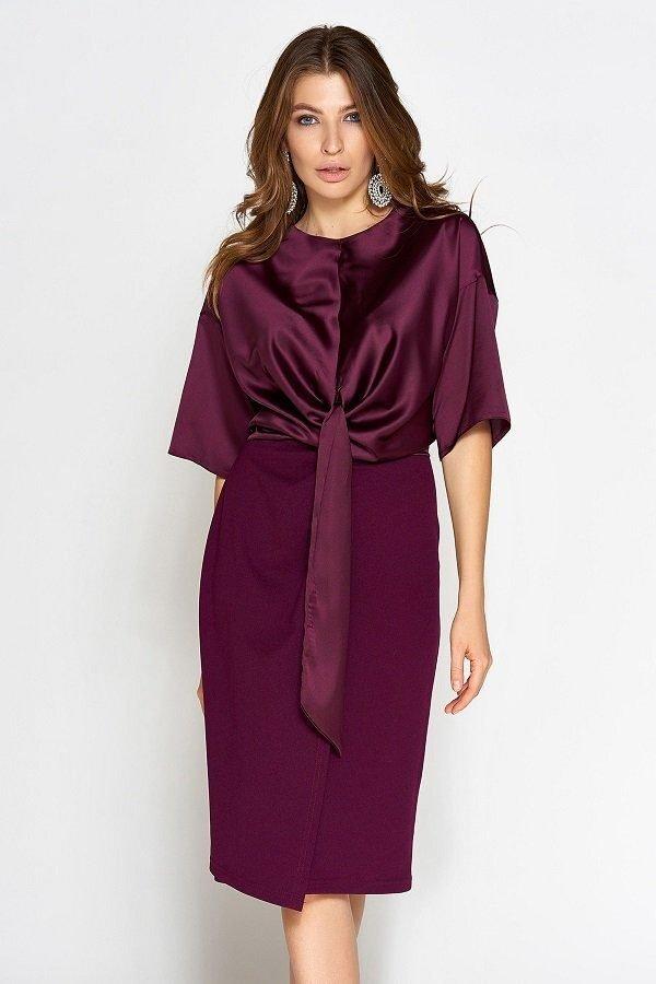Платье Этель марсала