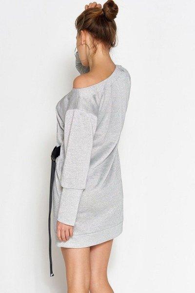 Платье-туника Эстер серебро
