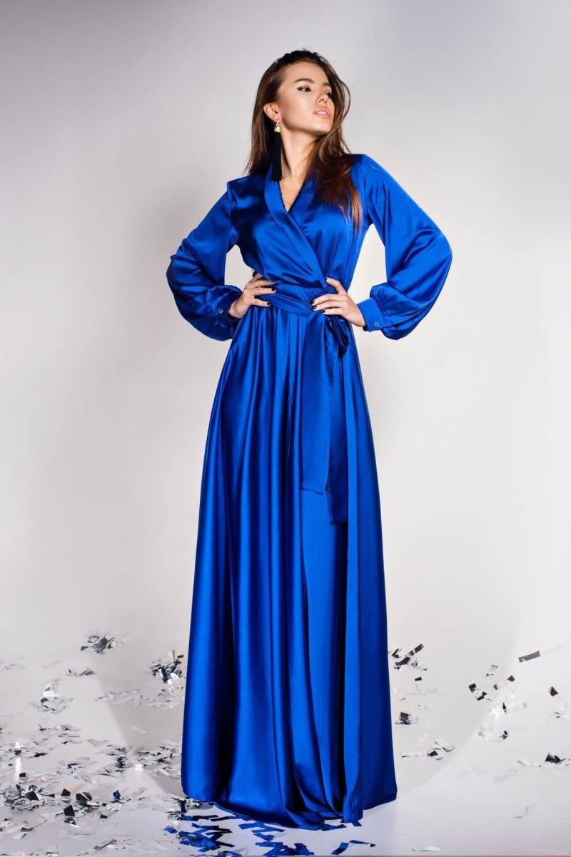 Платье Shine электрик