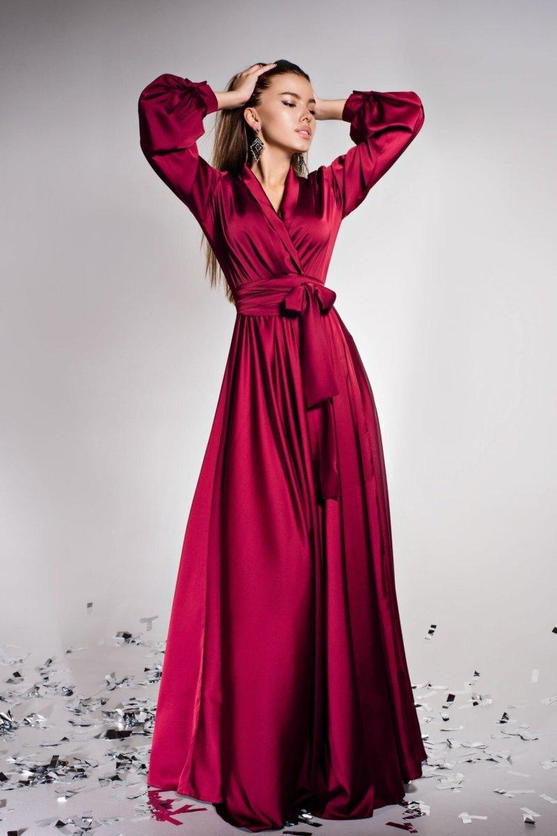 Платье Shine винный