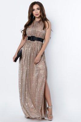 Вечернее платье-макси 10307-13 золото