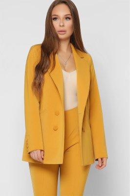 Дизайнерский женский пиджак 9023-6 горчица