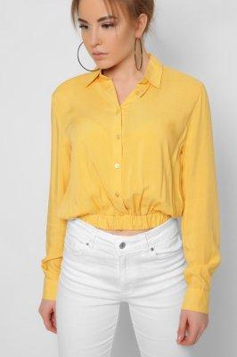 Модная блузка 32604-6 желтый