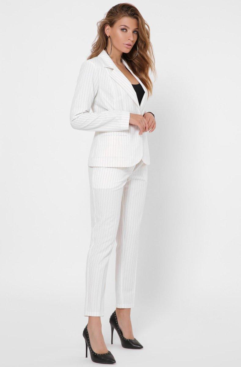 Классический костюм-двойка 2132-10 Молоко