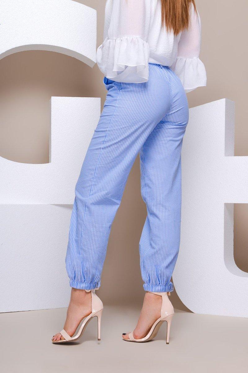 Хлопковые брюки 4212-11 Голубой