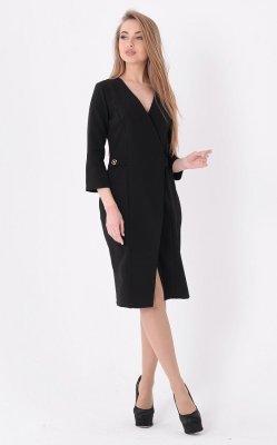 Эффектное деловое платье чёрное