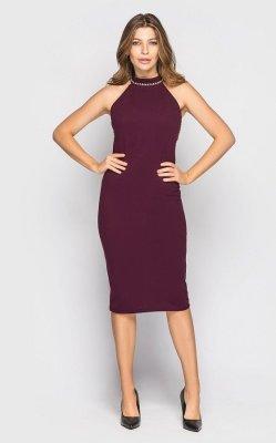 Элегантное платье (марсала)