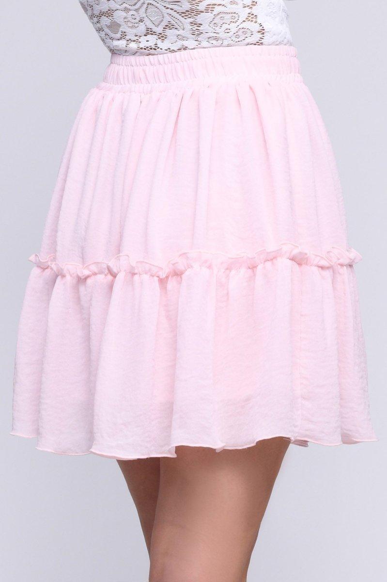 Летняя мини-юбка 3056-15 Розовый