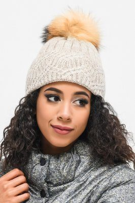 Теплая женская шапка 31372-10 Беж