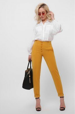 Женские брюки 4251-6 горчица