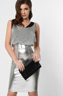 Комбинированная женское платье 10290-20 сильвер
