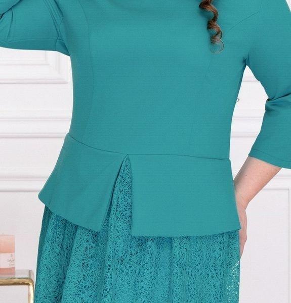 Элегантное платье с пышной юбкой 344 бирюза