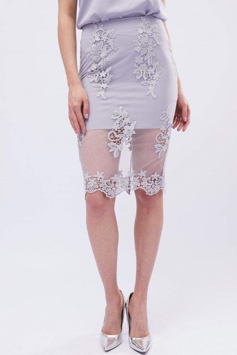 Нежная юбка UB-3240-20 Сильвер