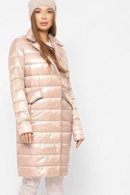 Трендовая стеганая куртка 8867-10 Беж