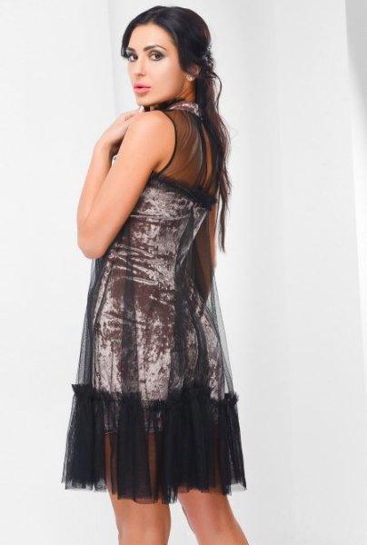 Велюровое платье KP-10106-21