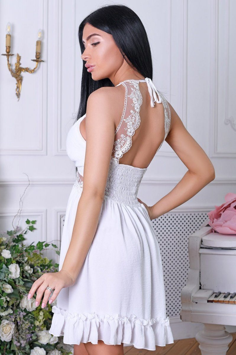 Летнее платье 10261-3 Молоко