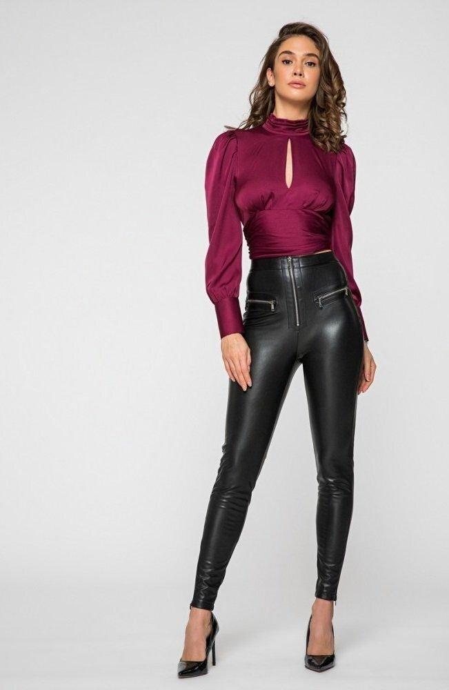 Блуза из шелка 21194 винный