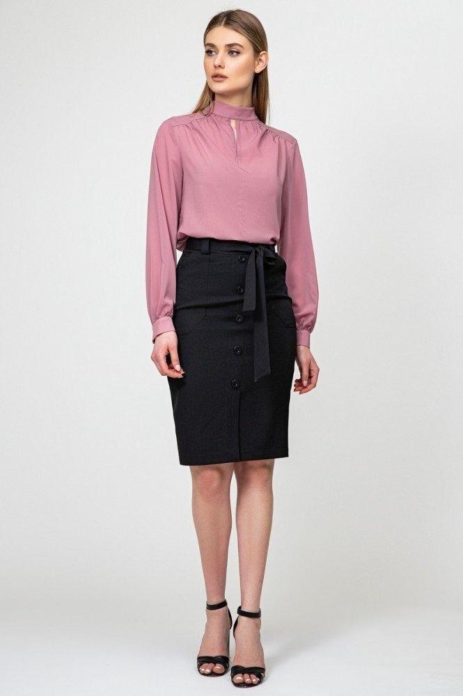 Элегантная шифоновая блуза 21215 Лиловый