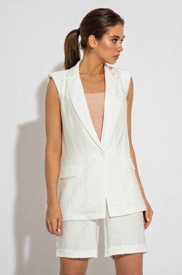 Стильный костюм 3073 белый