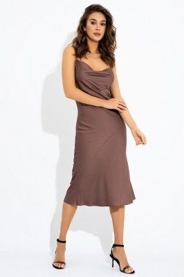 Платье-миди 51170 Шоколад