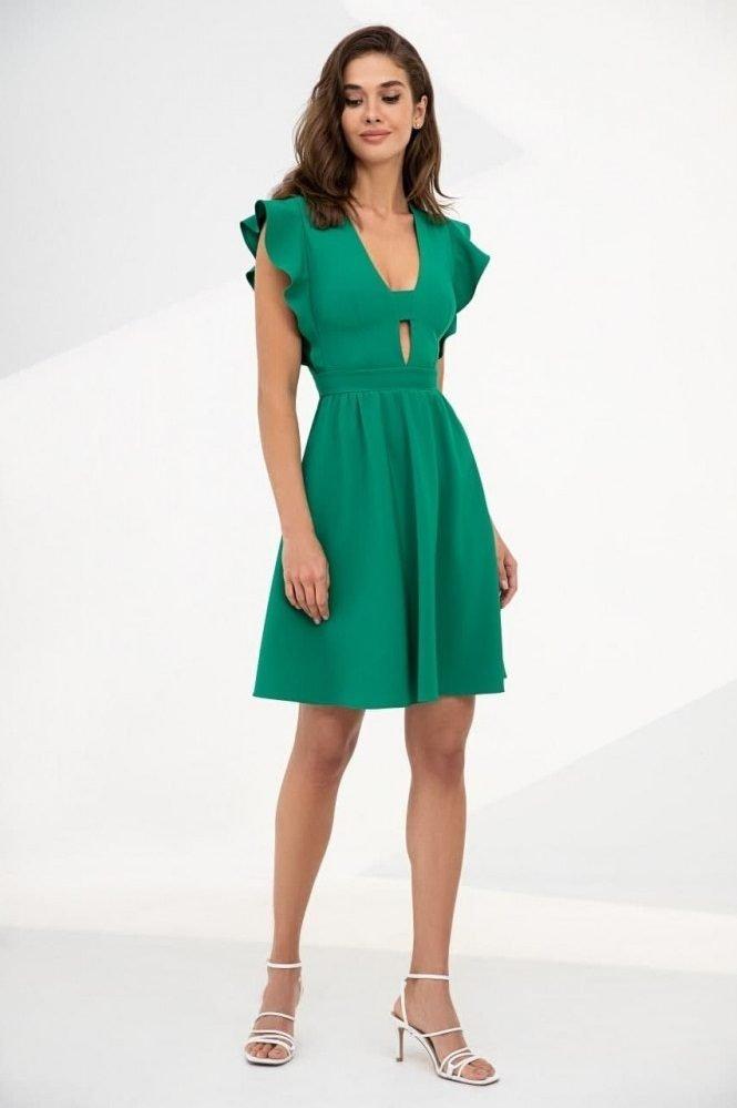 Романтичное платье 51275 зеленый