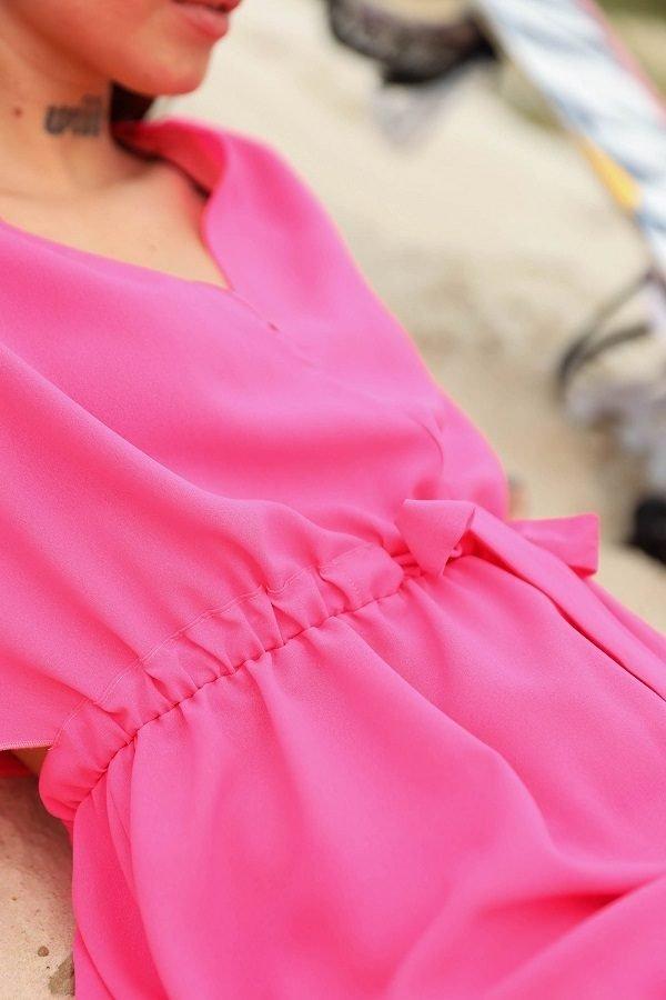 Пляжная туника Морэ неон розовый