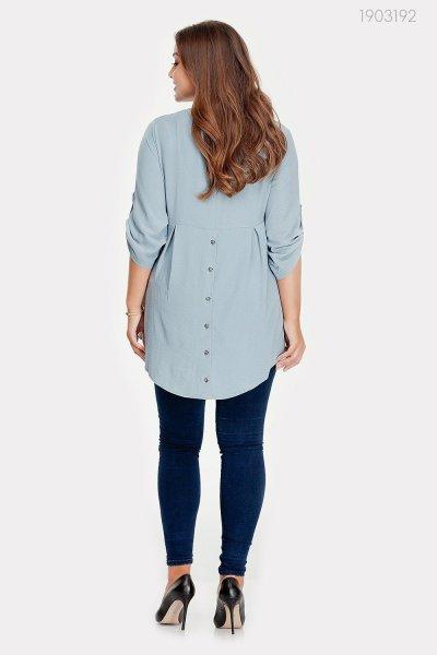 Элегантная блуза из шёлка Ани (шалфей)