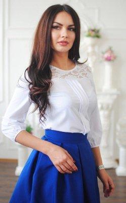 Изящная блуза 3405 белый