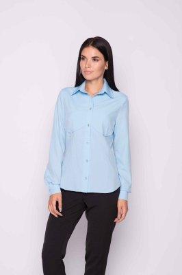 Классическая женская блуза (голубая)