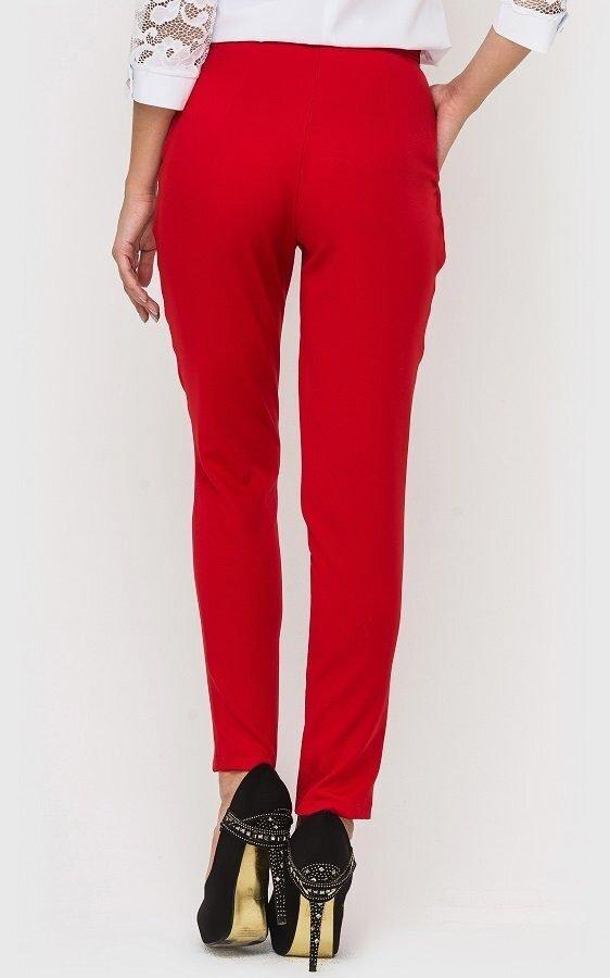 Классические женские брюки красные