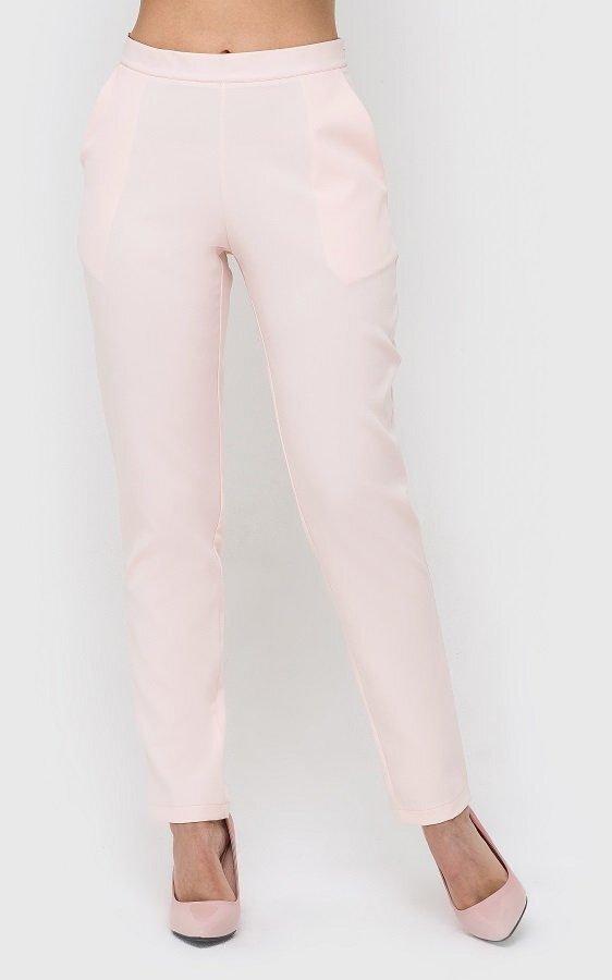 Классические женские брюки персиковые