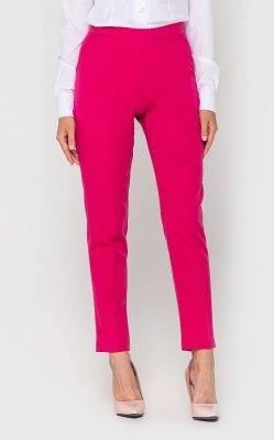Классические женские брюки малиновые