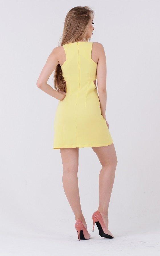 Коктейльное платье 3224 жёлтое