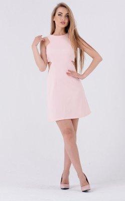 Коктейльное платье 3224 розовое
