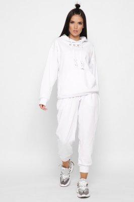 Дизайнерский спортивный костюм 2151-3 белый