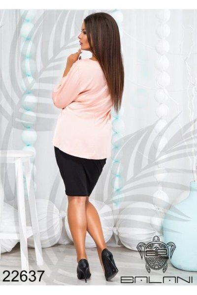 Костюм юбочный с блузой - 22637 пудрово-розовый