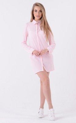 Легкое платье-рубашка 3335 (пудровое)