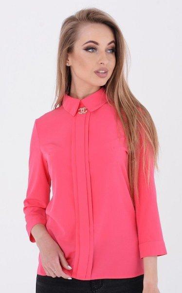 Модная короткая блузка (розовая)