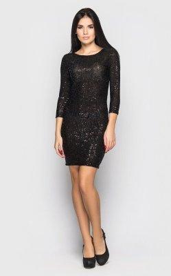 Нарядное платье-мини (черное)