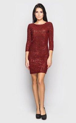 Нарядное платье-мини (красное)