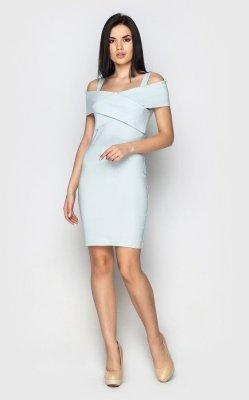 Облегающее джинсовое платье 3919 (голубое)