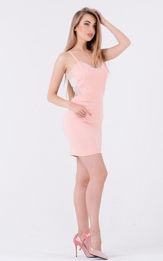 Обворожительное платье кружево 3222 розовое