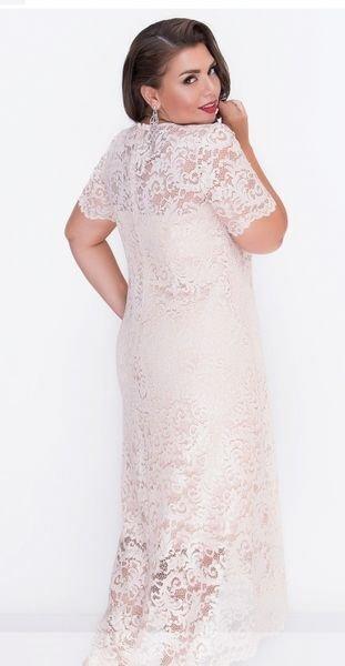 Кружевное приталенное платье 18-25 беж