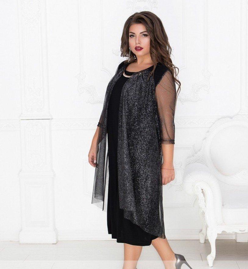 Коктейльное платье 17-79 черное