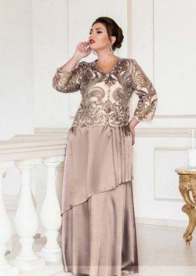Вечернее платье 390-1 капучино