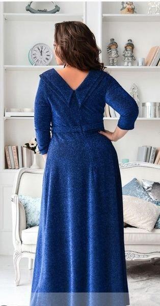 Элегантное платье в пол 19-42 электрик