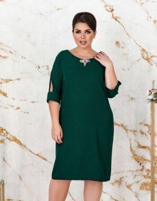 Платье 3132-В тёмно-зелёное